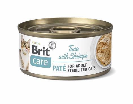Brit Care Cat Sterilized. Tuna Paté with Shrimps 70g