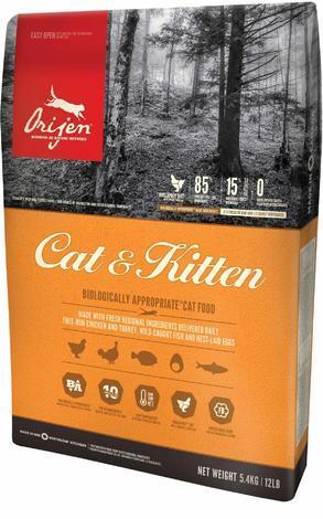 Granule ORIJEN CAT & KITTEN 5,4kg