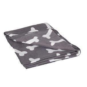 Fleecová deka šedá kost  150x130cm