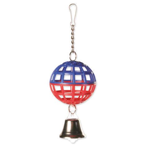 Hračka TRIXIE míč mřížkovaný s řetízkem a zvonkem 1ks