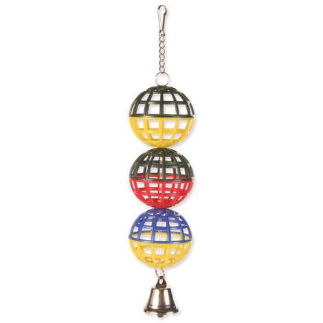 Hračka TRIXIE míčky na řetízku se zvonečkem 1ks