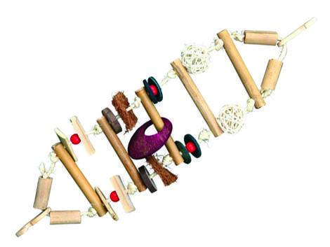 Hračka TRIXIE žebřík závěsný bambus a sisal 45 cm