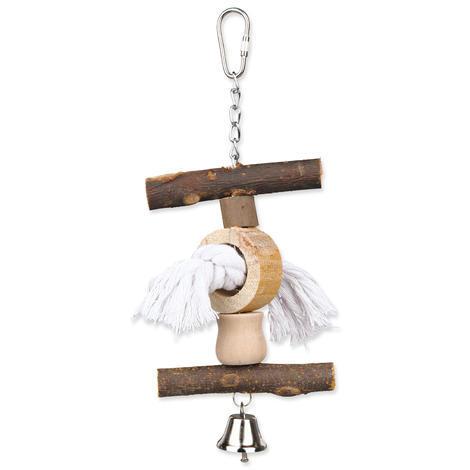 Hračka TRIXIE Living Toy provaz / zvoneček 1ks