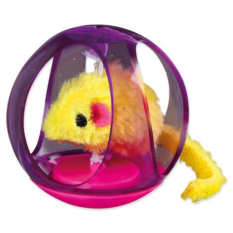Hračka TRIXIE míček Bobo s plyšovou myškou 6 cm 1ks
