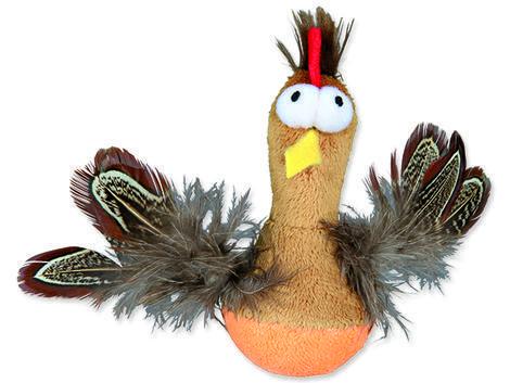 Hračka TRIXIE kuře Bobo plyšové s peřím 10 cm 1ks