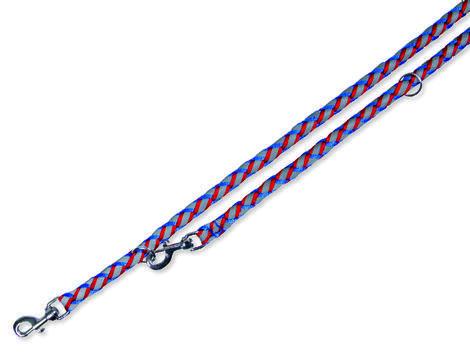 Vodítko TRIXIE reflexní modro-červené  S-M