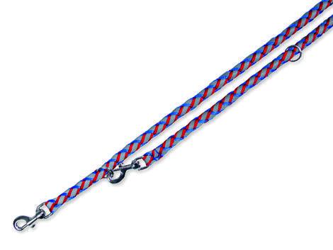 Vodítko TRIXIE reflexní modro-červené  L-XL