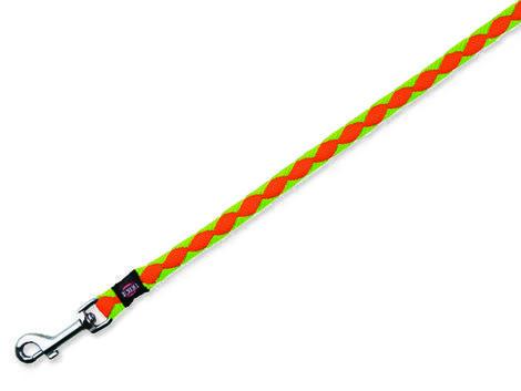 Vodítko TRIXIE Cavo neon oranžovo-zelené  S-M
