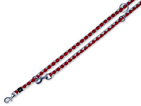 Vodítko TRIXIE Cavo nastavitelné červeno-stříbrné  S-M
