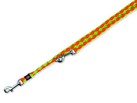 Vodítko TRIXIE Cavo nastavitelné neon oranžovo-zelené  S-M