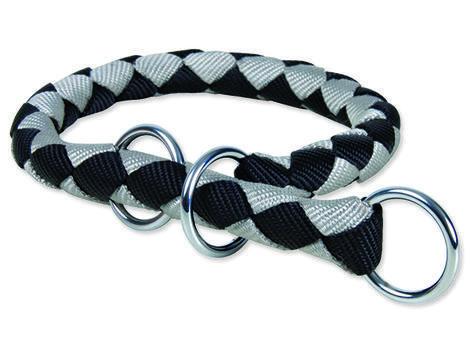 Obojek TRIXIE Cavo černo stříbrný  L-XL