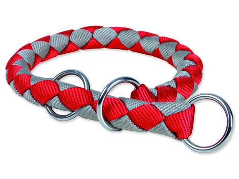 Obojek TRIXIE Cavo stahovací červeno-stříbrný L-XL