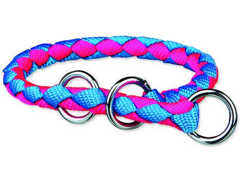 Obojek TRIXIE Cavo Neon modro-růžový  L-XL