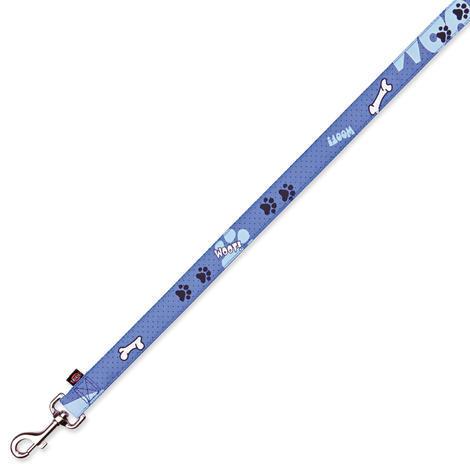Vodítko TRIXIE Modern Art Woof modré  M-L
