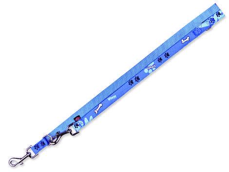 Vodítko TRIXIE Modern Art Woof nastavitelné modré  M-L