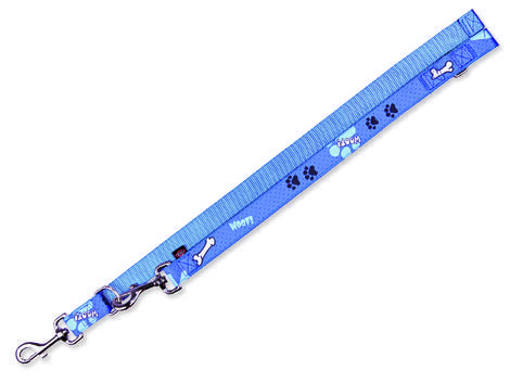 Vodítko TRIXIE Modern Art Woof nastavitelné modré  L-XL
