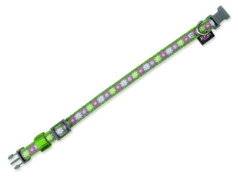 Obojek TRIXIE Modern Art Blooms zelený  XXS-XS