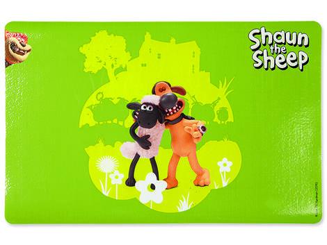 Podložka pod misky TRIXIE Shaun the Sheep & Bitzer zelená 44 x 28 cm 1ks
