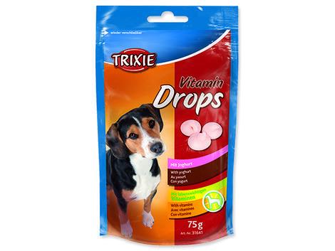 Dropsy TRIXIE Dog vitamínové s jogurtem 75g