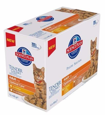 Hill's Feline Adult kaps.CH+Turkey -Multipack 12X85g