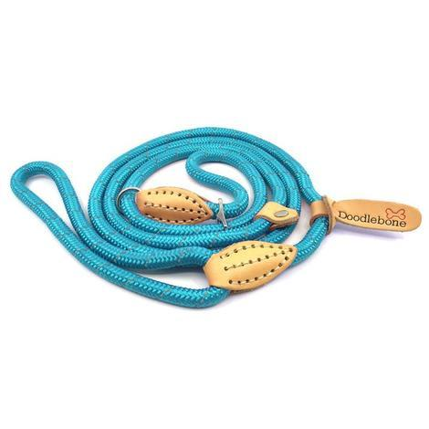 Doodlebone stahovací lanové vodítko, modré, velikost  1,3m