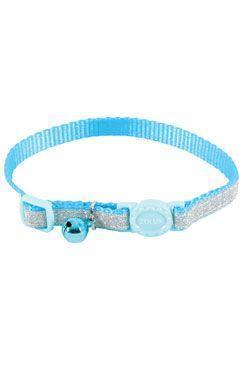 Obojek kočka SHINY nylon modrý 10mm/30cm Zolux