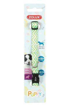 Obojek pes štěně PIXIE nastavitelný zelený 8mm Zolux