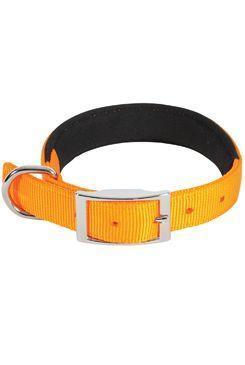 Obojek pes SOFT NYLON oranžový 25mm/65cm Zolux