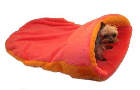 Marysa pelíšek 2v1 s lemem, oranžový/růžový XL