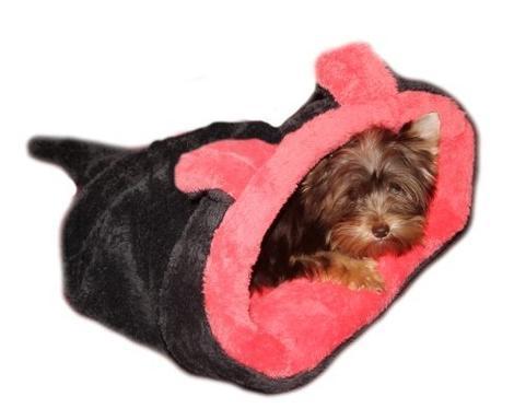 Marysa pelíšek 2v1 pro štěňátka/koťátka, MYŠÁK, červený/černý