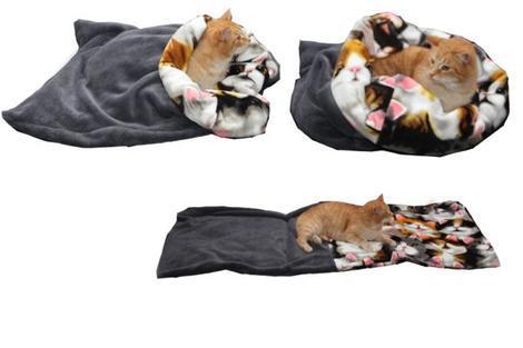 Marysa pelíšek 3v1 pro kočky, šedý/kočky XL