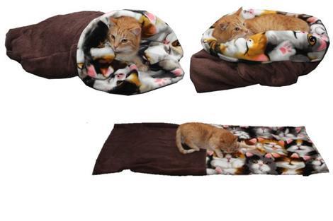 Marysa pelíšek 3v1 pro kočky, tmavě hnědý/kočky XL