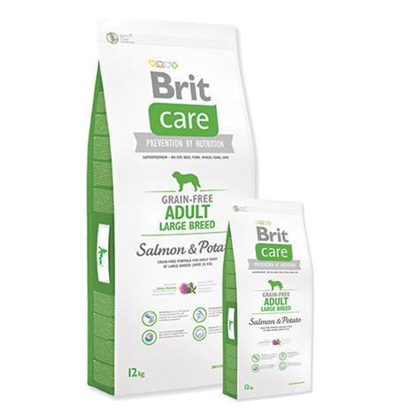 Granule BRIT Care Grain-Free Adult Large Breed Salmon & Potato 12kg + 3kg ZDARMA