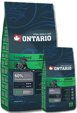 ONTARIO Junior Large Breed 13kg + 2,25kg ZDARMA + doprava ZDARMA  - 1