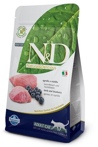 N&D Grain Free CAT Adult Lamb & Blueberry 300g