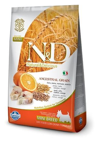 N&D Low Grain DOG Adult Mini Codfish & Orange 800g