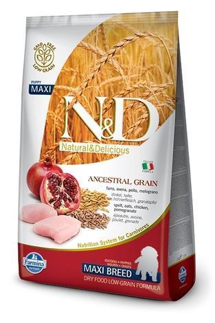 N&D Low grain DOG Puppy Maxi Chicken & Pomegr  2,5kg