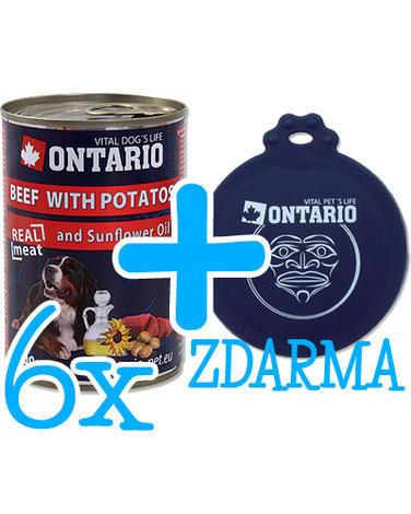 6 x ONTARIO konzerva Beef 400g + univerzální víčko ZDARMA  - 1