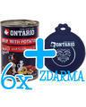 6 x ONTARIO konzerva Beef 400g + univerzální víčko ZDARMA - 1/3