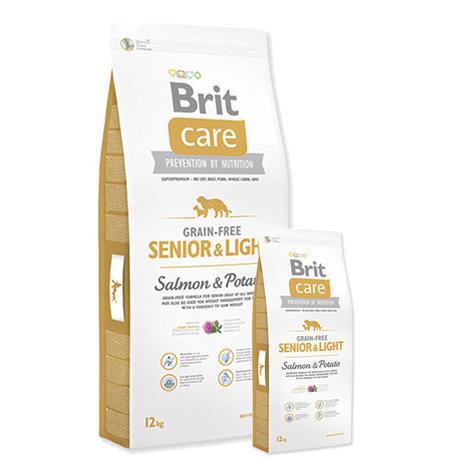 Granule BRIT Care Grain-Free Senior & Light Salmon & Potato 12kg + 3kg ZDARMA