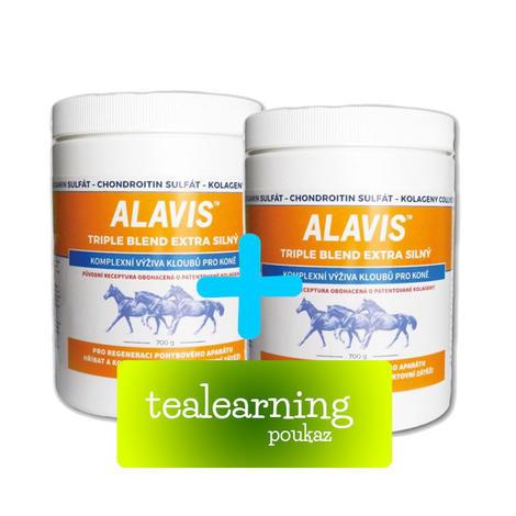 2x ALAVIS Triple blend Extra silný + licence tealearning ZDARMA  - 1
