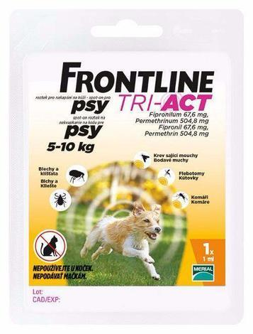 Frontline Tri-Act pro psy Spot-on S  5-10 kg
