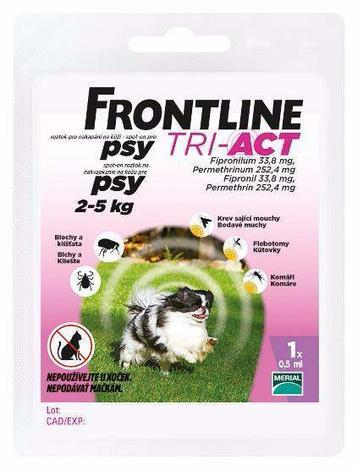 Frontline Tri-Act pro psy Spot-on XS  2-5 kg