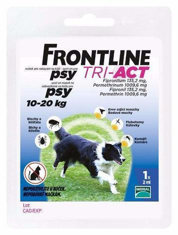 Frontline Tri-Act pro psy Spot-on M  10-20 kg