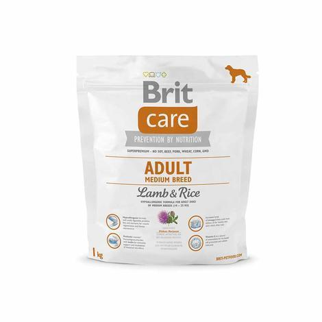 Granule BRIT Care Adult Medium Breed Lamb & Rice - 2