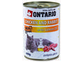 6 x ONTARIO konzerva Chicken, Rabbit, Salmon Oil 400g + univerzální víčko zdarma - 2/3