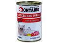 6 x ONTARIO konzerva Chicken, Turkey, Salmon 400g + univerzální  víčko ZDARMA - 2/3