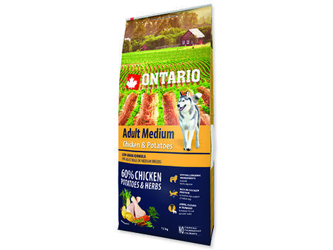 ONTARIO Adult Medium Chicken & Potatoes & Herbs 12kg + 2,25kg ZDARMA + doprava ZDARMA - 2