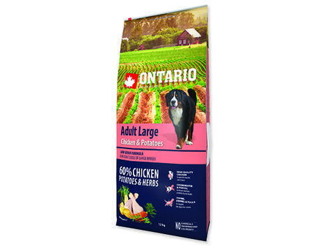 ONTARIO Adult Large Chicken & Potatoes & Herbs 12kg + 2,25kg ZDARMA + doprava ZDARMA  - 2