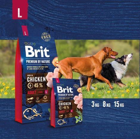 BRIT Premium by Nature Adult L 3kg - 2